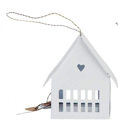 House, white 10 cm.