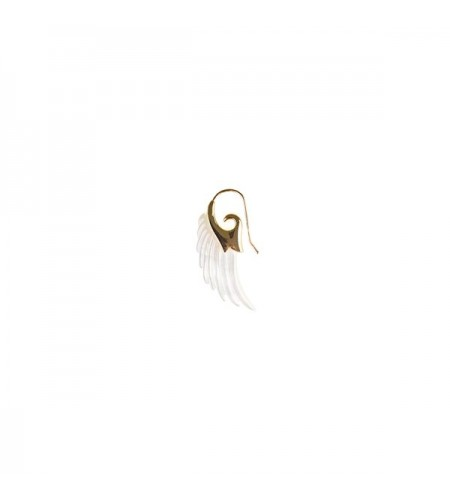 Angel wing earring - gold