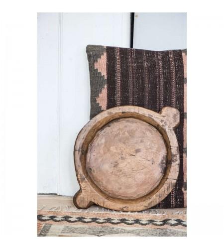 Træfad rund unika indisk chapatifad varierende størrels