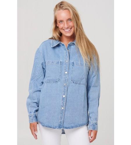 Noella Vance Pocket Shirt Denim Blue Denim