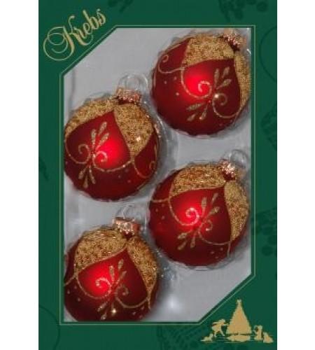 Røde julekugler