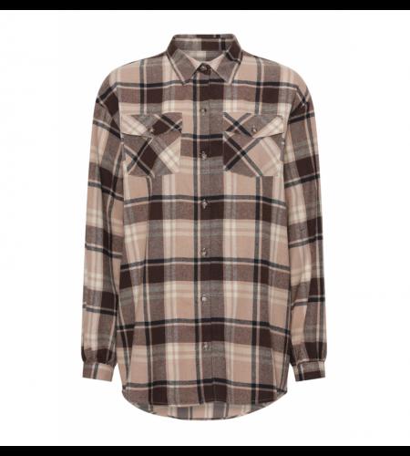 Continue Gila check shirt brun