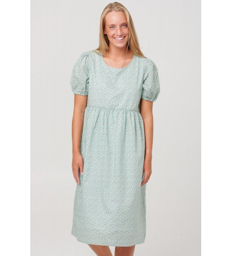 Noella Casey Dress Cotton Poplin Green Flower