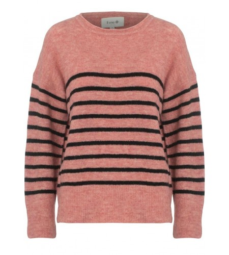 Wendy Striped pullover - nude rose