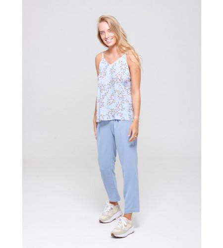 Noella Paris Pants Bleached Sand - Light blue