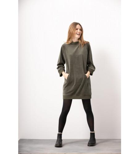 Konstanz Velvet Dress Dusty Olive