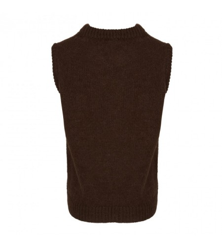 Tiffany Cathy Slipover Knit, Dark Brown