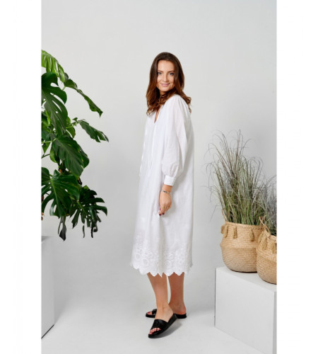 Tiffany Sibil Dress Soft Cotton, White