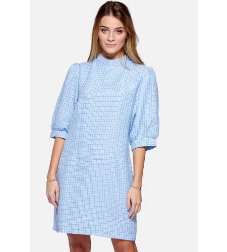 Noella Vix Dress Cotton Sky blue check