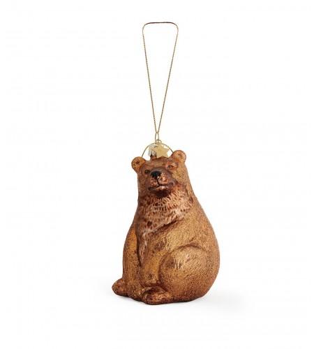 Glas ornement som bjørn 11 cm