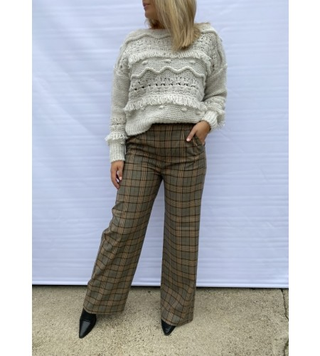 Noella Brooklyn Checked Pants Brown Checks
