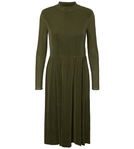 YAS Kjole - Vilida LS Highneck mesh dress, Rosin