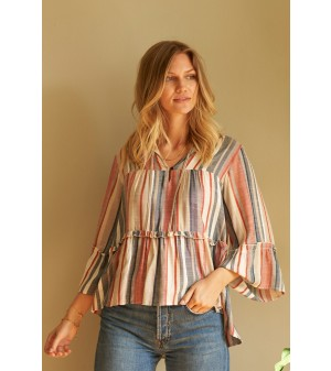 Toga Blouse - Stripe