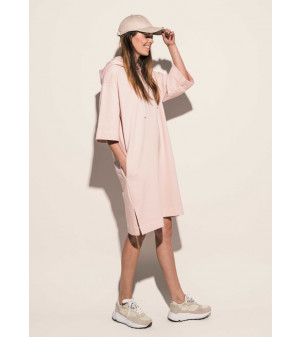 Tweedy Hood Sweat Dress