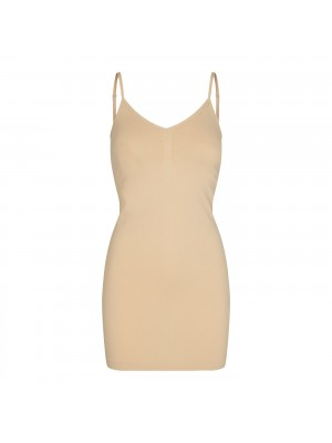 Ninna slip dress - sort - hvid - nude