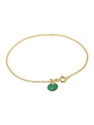 Bracelet, Ball Chain - petrol green