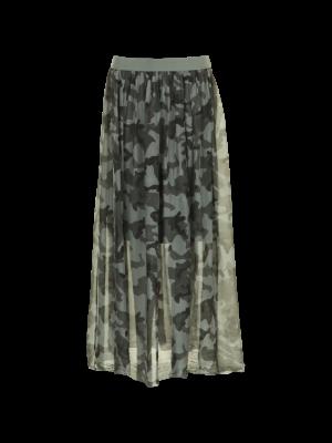 Tiffany Nederdel - camo og grå