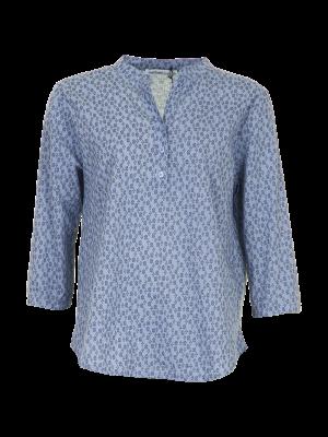 Skjorte med 3/4 ærme - Tiny Circles - lyseblå