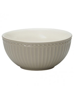 GreenGate Skål - Cereal Bowl Alice Warm Grey
