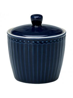 GreenGate Sukkerskål - Sugar Pot Alice Dark Blue