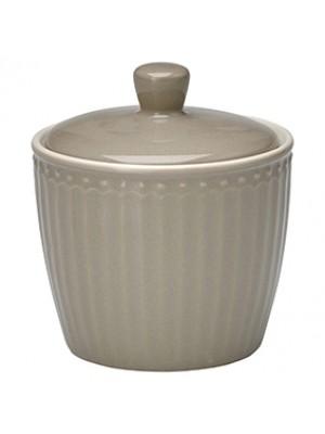 GreenGate Sukkerskål - Sugar Pot Alice Warm Grey