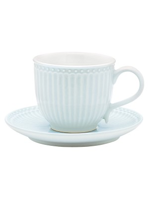 Stoneware Cup & Saucer Alice Pale Blue