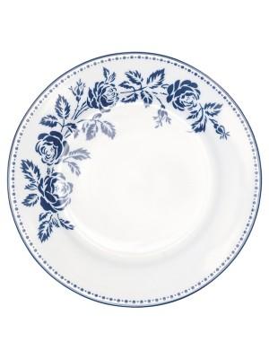 GREENGATE TALLERKEN - PLATE FLEUR BLUE 20,5 CM