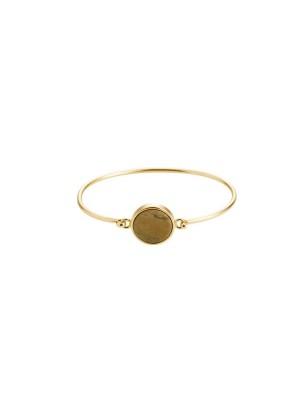 Marble bracelet round - driftwood - gold