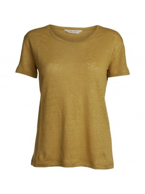 BASIC S/S O-NECK - BURNISHED GOLD