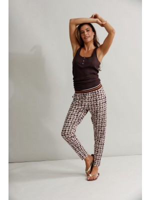Camina Printed Trousers Ruby Print