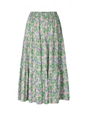 Lollys Launrdy Morning Nederdel Flower Print Green