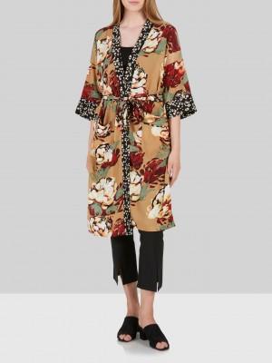 Mary Mix kimono, Tan/aop ske