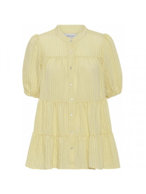 Sanna Stripe SS Blouse - Light Yellow