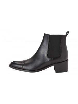 Chelsea læder støvler - Sort