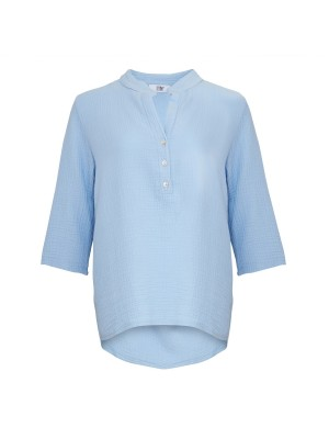 Tiffany Bomuldsskjorte 17661 Lyseblå
