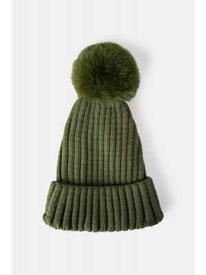 Rae Faux Hat i Army Green