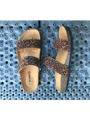 Bianco Twin strap sandaler leo