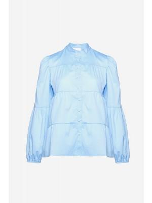 Noella Kiki Pearl Shirt Poplin Light Blue