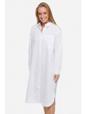 Noella Cendra Long Shirt White/blue