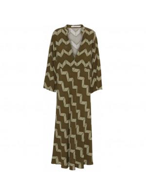 Dress Paff - Army zig zag print