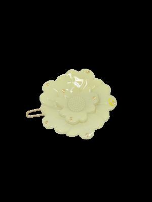 Flower clip Swarovski Creme