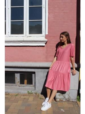 LIBERTÈ - Alma - Short loose Dress - Dusty Army - dusty rose