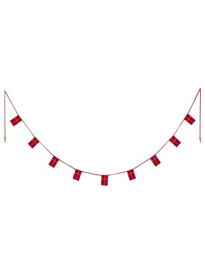 DANISH FLAG GARLAND, 170 CM / 9 FLAGS