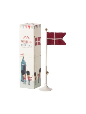 DANISH FLAG, METAL FLAGPOLE - 25,5 CM