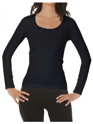 Long sleeve top - Navy - Grøn - Sort