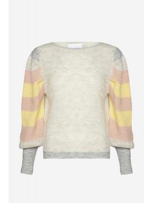 Hush Knit Stripes - Peach/Yellow