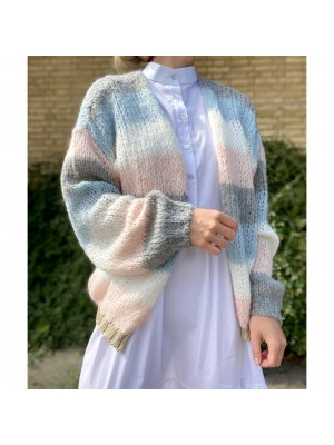 Noella Kala cardigan - Lightblue/Rose stripe