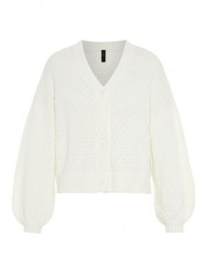 YASDOT strik cardigan  - Star white