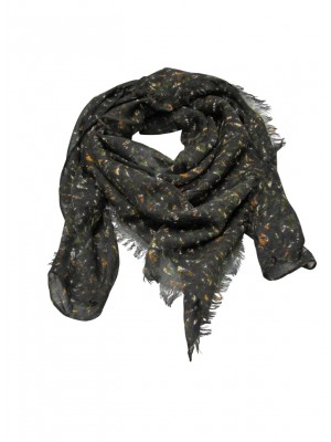Tweed scarf Army Yellow