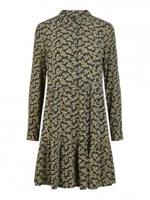 YAS Kjole - Lafera LS Dress, Carbon/Lafera Print